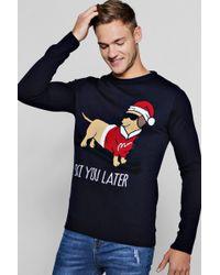 Boohoo - Ski Dachshund Christmas Jumper - Lyst
