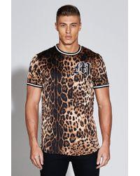 Boohoo - Premium Leopard Print Woven T-shirt - Lyst