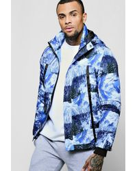 BoohooMAN - Mountain Scene Quilted Jacket - Lyst