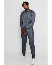 Boohoo - Jumper Tracksuit With Contrast Zips - Lyst