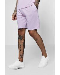 Boohoo - Man Signature Embroidered Jersey Short Co-ord - Lyst
