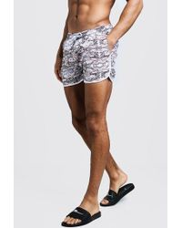7476a3a9e5 Moschino Plus Size Chain-print Swim Shorts in Black for Men - Lyst