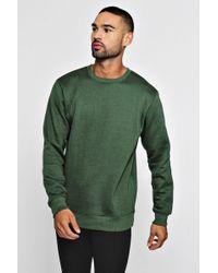 Boohoo - Basic Crew Neck Fleece Sweatshirt - Lyst