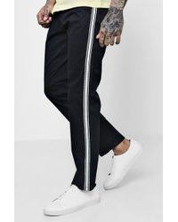 Boohoo - Side Stripe Slim Chino - Lyst