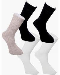 Boohoo - 3 Pack Plain Socks - Lyst