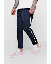 Boohoo - Jogger Style Stretch Chino With Side Taping - Lyst