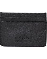 Boohoo - Real Leather Man Embossed Card Holder - Lyst