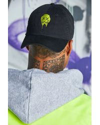 ffdbced8feb4f BoohooMAN Quavo Face Embroidered Cap in White for Men - Lyst