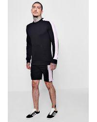Boohoo - Man Signature Sweatshirt & Short Set - Lyst