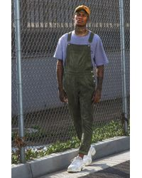 BoohooMAN - Slim Fit Cord Dungarees - Lyst
