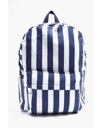 Boohoo - Canvas Striped Rucksack - Lyst