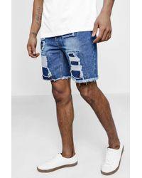 Boohoo - Distressed Denim Shorts - Lyst