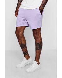 Boohoo - Short Length Pastel Jersey Shorts - Lyst