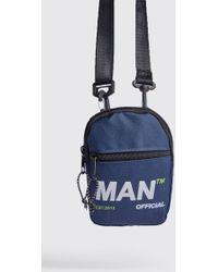 cb6afd4cc487 Lyst - Vivienne Westwood Man Tartan Positano Bag in Blue for Men