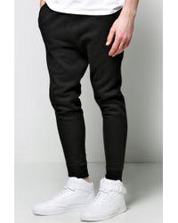 Boohoo - Lightweight Drop Crotch Joggers - Lyst