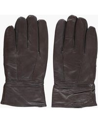 Boohoo - Mens Real Leather Gloves - Lyst