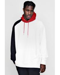Boohoo - Extreme Oversized Colour Block Hoodie - Lyst