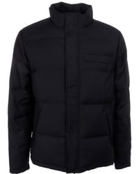 Brooksfield - Blue Polyester Down Jacket - Lyst