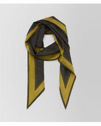 Bottega Veneta - Chamomile Nero Silk Scarf - Lyst