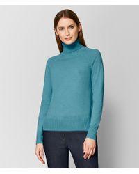 Bottega Veneta - Aqua Cashmere Sweater - Lyst