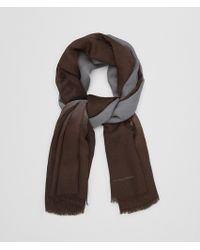 Bottega Veneta - Flannel/dark Brown Wool Scarf - Lyst