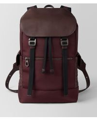 Bottega Veneta - Dark Barolo Hi-tech Canvas Sassolungo Backpack - Lyst