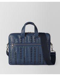 Bottega Veneta - Pacific/tourmaline Calf Briefcase - Lyst