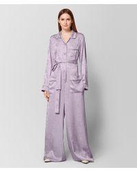 Bottega Veneta - Light Parme Silk Jumpsuit - Lyst