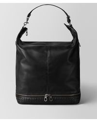 Bottega Veneta - BORSA MI-NY IN VITELLO NERO - Lyst