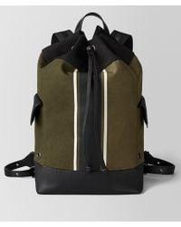 Bottega Veneta - Mustard/nero Canvas Backpack - Lyst