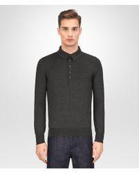 Bottega Veneta - Dark Grey Merino Sweater - Lyst