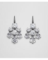Bottega Veneta - Naturale Cubic Zirconia Silver Earring - Lyst