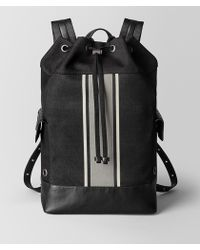 Bottega Veneta - Nero/cement Canvas Backpack - Lyst