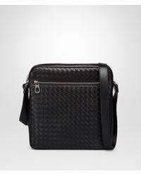 Bottega Veneta - Messenger Bag In Nero Intrecciato Vn - Lyst