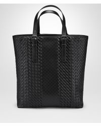 Bottega Veneta - BORSA AQUATRE IN VITELLO CON INTRECCIO IMPERO NERO - Lyst