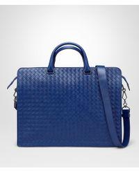 Bottega Veneta | Cobalt Blue Intrecciato Briefcase | Lyst