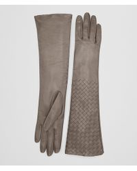 Bottega Veneta - Steel Lamb Glove - Lyst