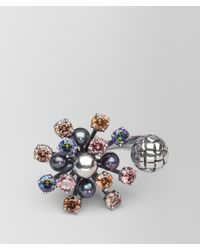 Bottega Veneta - Ring In Pearl And Zirconia - Lyst