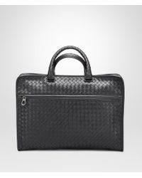 Bottega Veneta - Briefcase In Nero Intrecciato Calf - Lyst