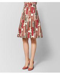 e14cb61995 Bottega Veneta - Multicolour Cotton Skirt - Lyst