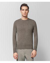 Bottega Veneta - Dark Cement Cashmere Sweater - Lyst