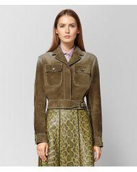 Bottega Veneta - Bronze Suede Jacket - Lyst