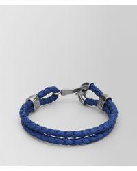Bottega Veneta - Cobalt Blue Intrecciato Nappa Bracelet - Lyst