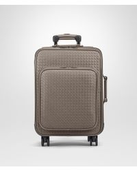 Bottega Veneta - Trolley In Steel Intrecciato Vn - Lyst