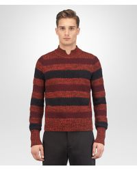 Bottega Veneta - Gigolo Red Cotton Wool Cashmere Sweater - Lyst