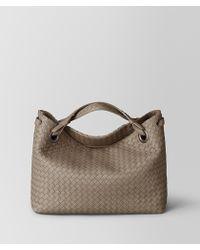 Bottega Veneta - Limestone Intrecciato Nappa Shoulder Bag - Lyst