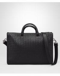 Bottega Veneta - Nero Intrecciato Calf Briefcase - Lyst