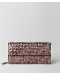 Bottega Veneta - Continental Wallet In Ayers And Intrecciato Nappa - Lyst