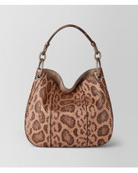 Bottega Veneta - Dahlia Anaconda Loop Bag - Lyst