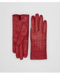 Bottega Veneta - China Red Lamb Glove - Lyst